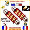 2 x Ampoule 41mm 42mm Navette LED C5W C10W Anti Erreur CANBUS Plafonnier 40mm