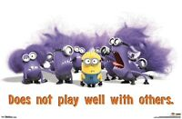 DESPICABLE ME 2 MOVIE POSTER ~ PLAY WELL WITH OTHER 22x34 Cartoon Minion Minions