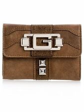 ..GUESS ONTARIO WALLET WITH GREAT INTERIOR DESIGN BROWN *** BLOW OUT ***