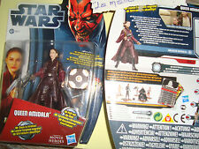 STAR WARS FIGURINE QUEEN AMIDALA  MOVIES HEROES REF MH17 + CARTE DE COMBAT