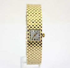 Vintage Van Cleef  Arpels Longines watch 14K yellow gold mesh 31.1GM 14 x 20.7MM