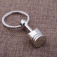 Engine Car Auto Part Silver Metal Piston Model Alloy Keyring Keychain Keyfob New