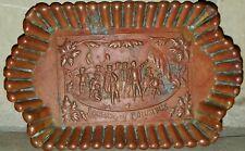 Landing Of Columbus Metal Copper? Brass? Tray 1893 Columbian Exposition