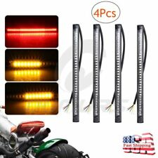 4 Flexible 48 LED SMD Strip Motorcycle Car Tail Turn Signal Brake Stop Light 12V