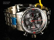 Invicta 48mm Aviator Men's Japan Quartz Chronograph Shark Grey Dial SS Watch