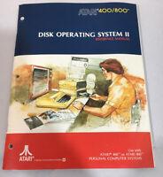 ATARI 400/800 DISK OPERATING SYSTEM II Reference Manual