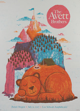 Avett Brothers Poster Les Schwab Amphitheatre Bend, OR 7/21/17