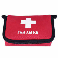 Travel First Aid Kit Bag Home Small Emergency Medical Survival Treatment Box BOB