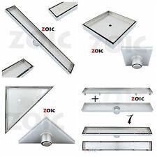 STAINLESS STEEL LINEAR FLOOR TILE INSERT BATHROOM SHOWER GRATE WATER WASTE DRAIN