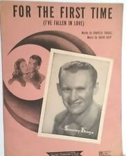 For The First Time I 've Fallen In Love Sheet Music Piano Sammy Kaye Photo 1943