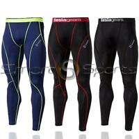 New Mens Tesla Baselayer Long Pants Armour Compression Tights Trousers Apparel
