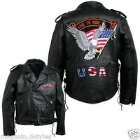Blouson jacket Perfecto en Cuir Aigle / Live To Ride { M L XL XXL XXXL } Bikers