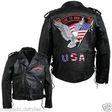 Blouson jacket Perfecto en Cuir Aigle / Live To Ride { M L XL XXL XXXL } Bikers