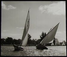 Glass Magic Lantern Slide YACHTS RACING C1910 PHOTO
