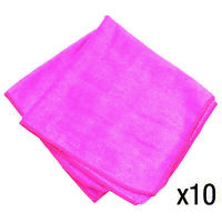 10 Large Microfibre Car Home Valeting Dusters Polishing Cleaning Cloths Pink
