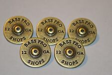 "5 Shotgun Shell Rivetback Concho 7/8""  Leather Bass Pro Belt 12 Gauge Tack"
