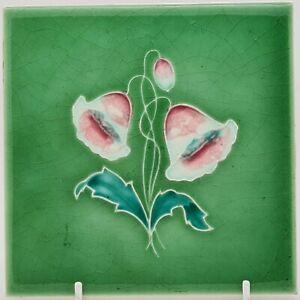 NEW MARSDEN TILE CO. LTD FLORAL ART NOUVEAU TUBELINED TILE
