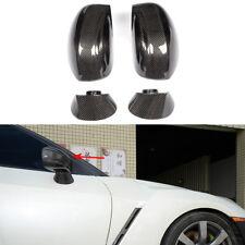 4PCS Replacement Carbon Fiber Mirror Covers Cap for Nissan R35 GT-R GTR 09-15