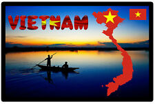 VIETNAM, ASIA MAP / FLAG - SOUVENIR NOVELTY FRIDGE MAGNET - GIFTS - SIGHTS - NEW