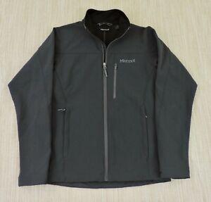 MARMOT GRAVITY Mens Sz Small Gray Full Zip Soft Shell Fleece Lined Jacket