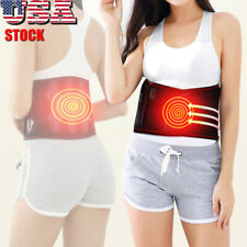 Electric Heating Belt Back Vibration Massage Waist Support Brace Pain Therapy US