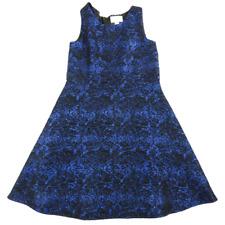 The Children's PLACE Black & Royal Blue Sparkle Sleeveless A-Line Dress Girls 8