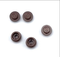 Lego 5 New Reddish Brown Plate Pieces Round 1 x 1 Straight Sides
