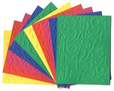 10 NUMBERS Embossed A2 Card Fronts Recollections Primary Cardstock Paper Craft