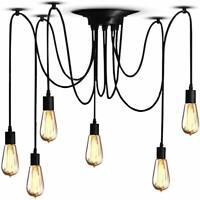 Vintage Pendant Ceiling Lights Shade Industrial Chandelier Light Retro Spider UK