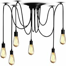 Vintage Pendant Ceiling Lights Shade Industrial Chandelier Light Retro Spider UK