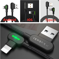 MCDODO Elbow LED Type-C Micro USB C Charging Cable For iPhone iPad IOS Android