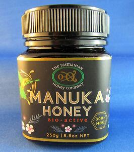 Tasmanian Manuka Honey, Natural Activity, MGO 300+, 250gms, free shipping