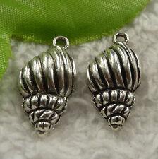 free ship 176 pcs tibet silver conch charms 25x13mm #4234