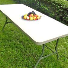 Stabiler Klapptisch Gartentisch Campingtisch Falttisch Buffettisch 183 cm creme
