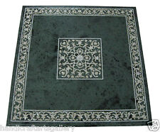 2'x2' Marble Green Dining Table Top New Year Eve Mother Of Pearl Inlay Art H1899