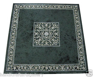"""24"""" Marble Coffee Table Top Mother Of Pearl Inlay Marquetry Kitchen Decors H1899"""