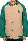 Burton Haze Varsity Jacket Mens Snowboard Ski Insulated Waterproof Coat Tan S L
