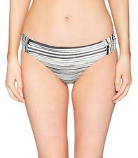NWT Roxy Women's Stripe Strappy Swim Bikini Bottom Multicolor Size Small