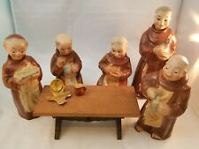 Cortendorf Pre-Goebel 1950's Novelty Monk Decanter Set w/table West Germany