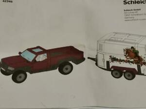 SCHLEICH HORSE TRAILER & TRUCK 42346 Instruction Manual / Booklet Only