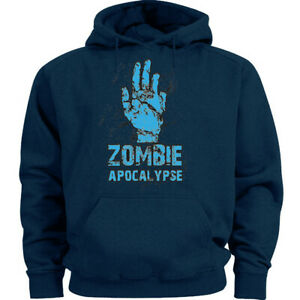 Big and Tall Hoodie Zombie Apocalypse Sweat Shirt Mens Clothing Gifts