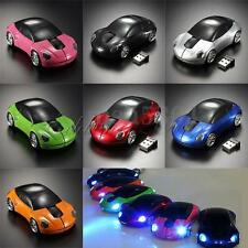 NEW 2.4GHz Car Shape1600DPI Wireless Optical Mouse/Mice + USB 2.0 Receiver -US