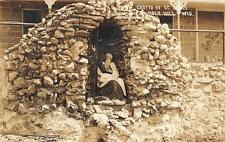 RPPC GROTTO OF ST. ELIAS HOLY HILL WISCONSIN REAL PHOTO POSTCARD 1911