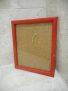 Vintage Red Picture Photo Wood Frame Small 17cm x 14cm
