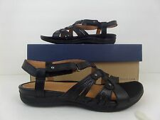 NEW GH Bass Kit black white Strappy women sandal Buckle SZ 7.5 genuine leather