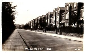 CIRCA 1912 RP POSTCARD: WILLOW TREE ROAD, HALE, TRAFFORD, CHESHIRE