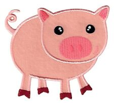 PatchMommy Pig Iron On Patch - Animal Applique for Kids