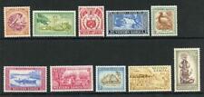 Samoa SG219/28 1952 Conjunto de 10 M/M Cat 15