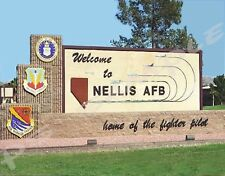 Las Vegas - NELLIS AIR FORCE BASE - Travel Souvenir Flexible Fridge MAGNET