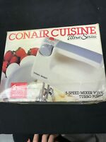 Vintage Conair Cuisine ultra series 5 speed mixer with turbo boost in box